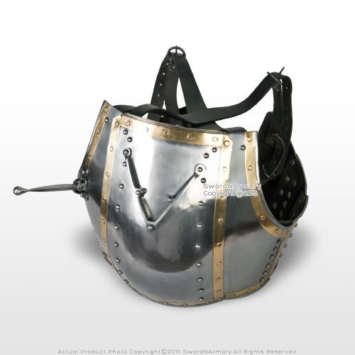 XL Size 14th Century 16G Steel Functional Medieval Churburg Breast Plate Armor