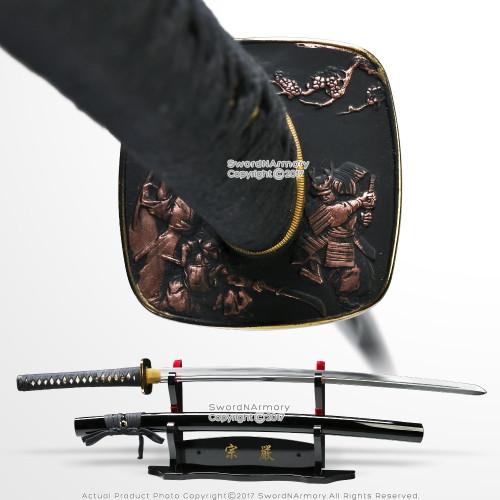 Handmade Musashi Moroha Zukuri Style 1060 Carbon Steel Katana