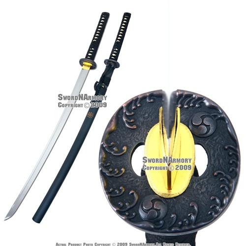 Handmade Full Tang Samurai Katana Sword Sharp Blade with Tomoe Tsuba