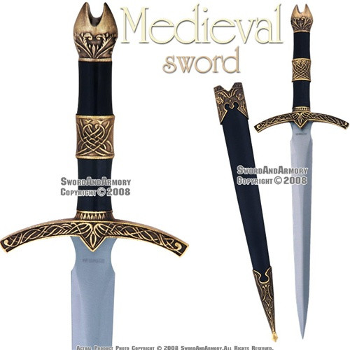 Historical Medieval Knight Great Sword Fantasy Dagger