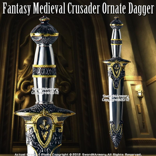 Historical Roman Dagger Fantasy Medieval Crusader Short Sword Knight Knife