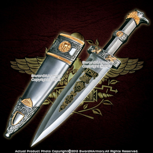 Roman Legion Soldier Short Sword Eagle Head Historical Dagger LARP Costume