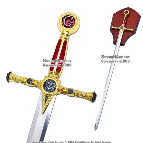 """39"""" Fraternal Masonic Sword Templar Knight Freemasonry 2"""