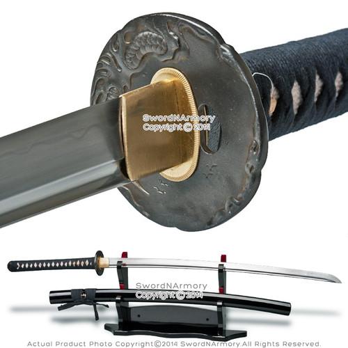 Ryujin 1095 Blade Hand Forged Samurai Katana Sword w/ 1045 Steel Dragon Tsuba