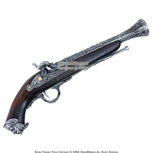 Naval Pirate Gun FlintLock Blunderbuss Replica Pistol