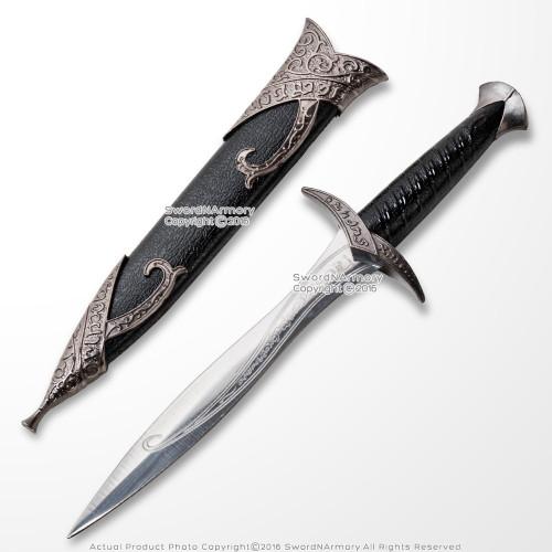 "10.25"" Elven Sting Dagger Miniature Letter Opener Fantasy Sword with Sheath"