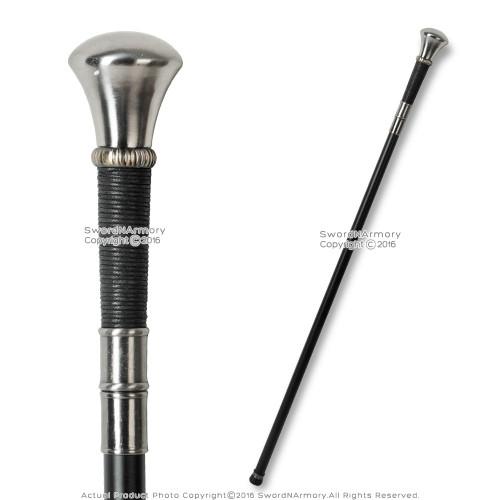 "36"" Knob Handle Walking Stick Gentleman's Cane Metal Shaft"