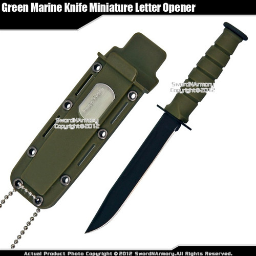 Classic Marine Combat Knife Replica Letter Opener Size Dagger with Name Plate GN