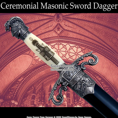 Mason Knights of Templar Knights Sword Historic Dagger 1