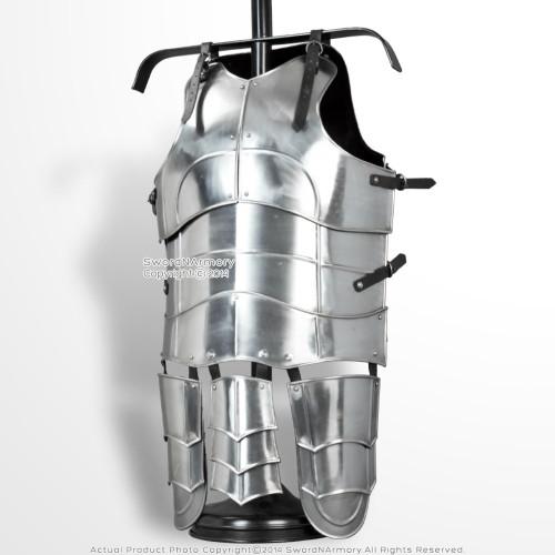 Medieval 18 Gauge Steel Plate Armor Classic Gorget H Neck Protector SCA LARP