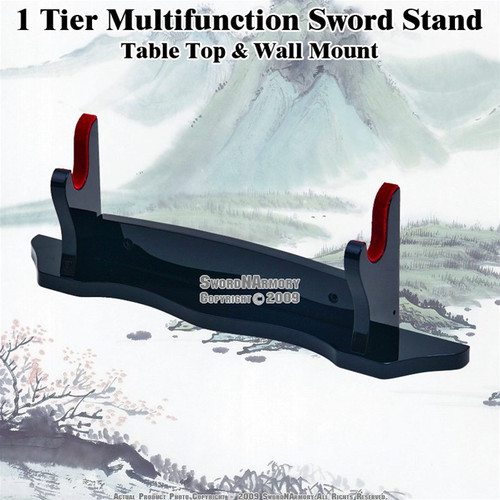 1 Tier Multifunction Sword Stand Piano Laquer Finshed