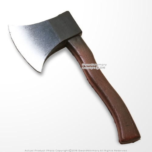 """11"""" High Density Medieval Foam Throwing Axe Toy Tomahawk LARP Cosplay Weapon"""