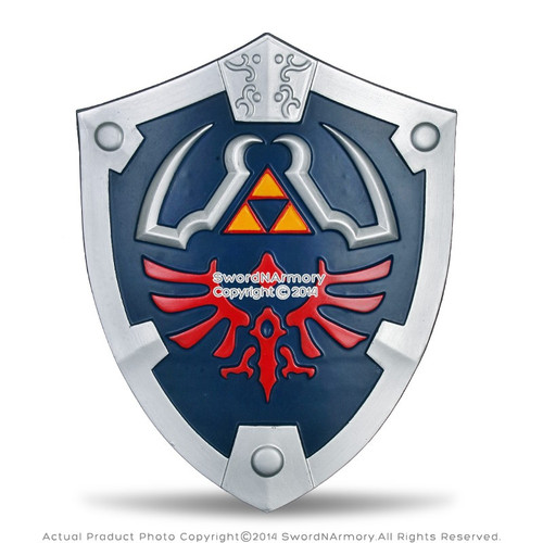Blue Legend of Zelda Foam Hylian Shield w/ Strap LARP Anime Cosplay Triforce