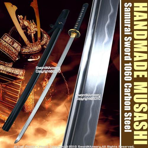 Handmade Musashi Samurai Sword Katana 1060 Carbon Steel