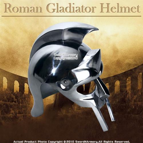 Gladiator Maximus Roman Helmet Medieval Armor Wearable