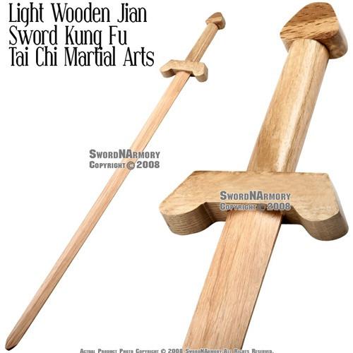 "35"" Martial Arts Wooden Kung Fu Tai Chi Sword Jian"
