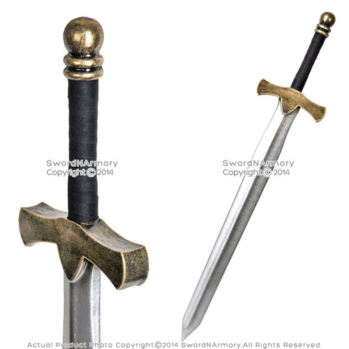 "36"" Fantasy Dark Knight Arming Sword LARP Foam Latex Video Game Weapon Cosplay"