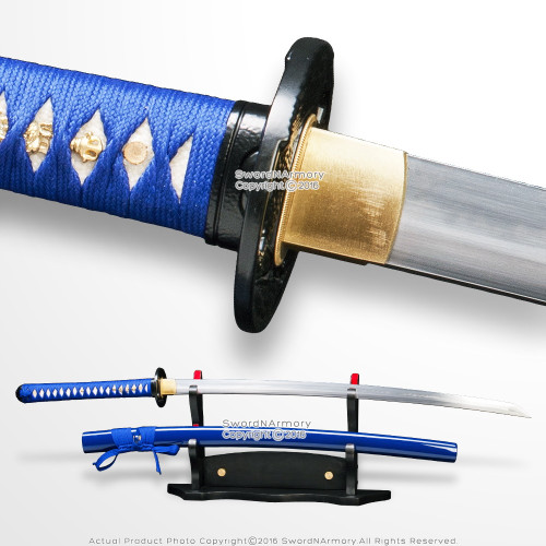 Musashi Brand DH T10 Steel Choji Hamon Handmade Samurai Katana Sword Eagle Tsuba