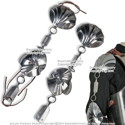 Jack Chain Armor Shoulder Elbow Steel Protector 18G Medieval Renaissance LARP