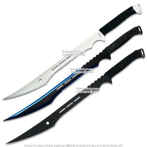 """29"""" Deathstroke Swords Dual Blade Black Ninja Sword Fantasy Machetes with Sheath"""