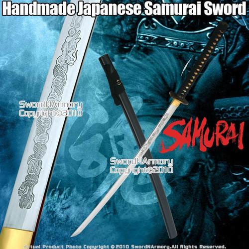 Handmade Japanese Samurai Katana Sword With Tiger Tsuba