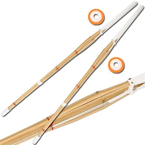 """Set of 2 47"""" Kendo Shinai Bamboo Practice Sword Katana"""