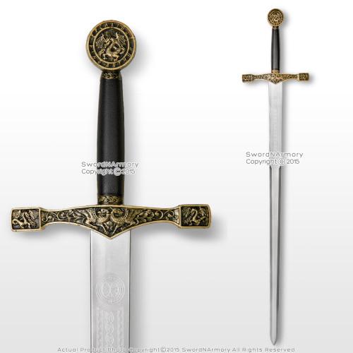 "44"" Foam Excalibur  Knights Crusader Long Sword LARP Renaissance Costume Cosplay"