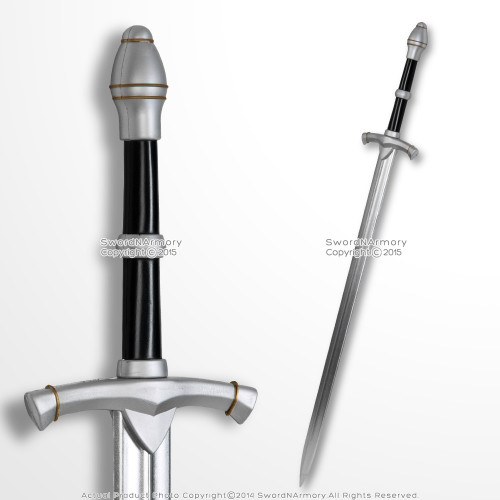 """42"""" Hand an a Half  Medieval Knight Foam Arming Sword Cosplay Weapon LARP Toy"""