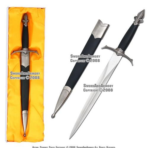Classic Medieval Crusader Knight Dagger W/ Sheath 1