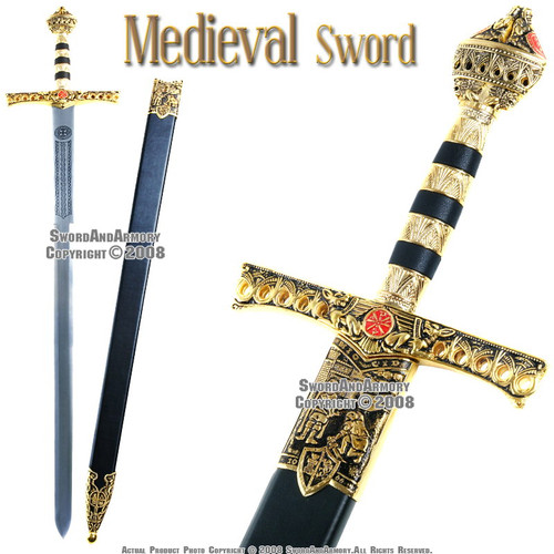 Richard Lion Heart  Medieval King Knights Sword With Scabbard