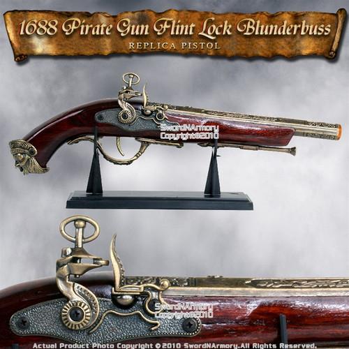 Naval Pirate Gun FlintLock Blunderbuss Movie Replica Pistol Cosplay Costume