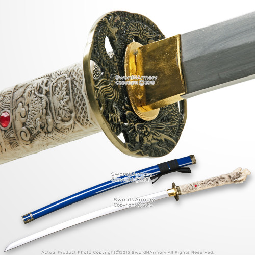 Blue Open Mouth Dragon Highland Connor MacLeod Fantasy Katana Sword Replica