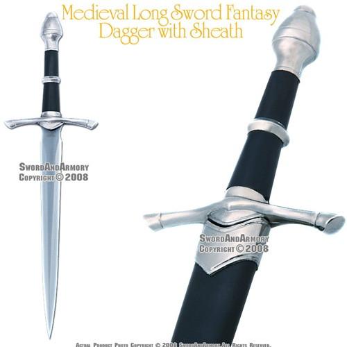 Medieval 'Long Sword' Fantasy Dagger with Sheath