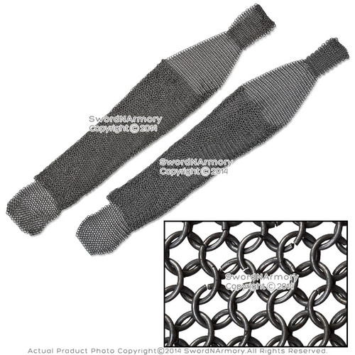 Medieval Chainmail Leggings Chausses High Tensile Wire Butted 9mm 16G Steel LARP