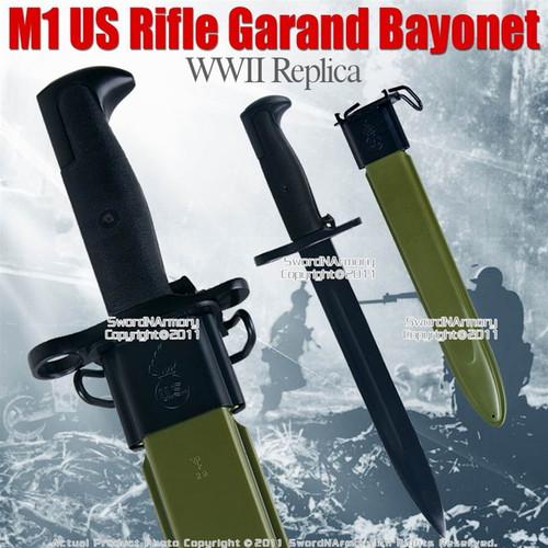 M1 US Rifle Garand Bayonet Dagger WWII Replica with Sheath