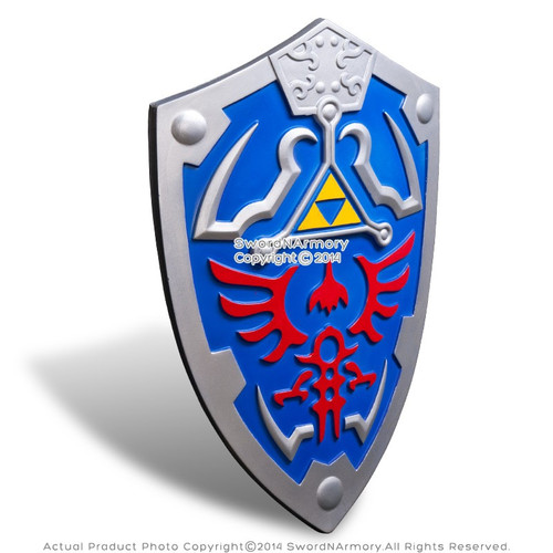 Blue Legend of Zelda Foam Shield Link Hylian with Strap  LARP Anime Cosplay