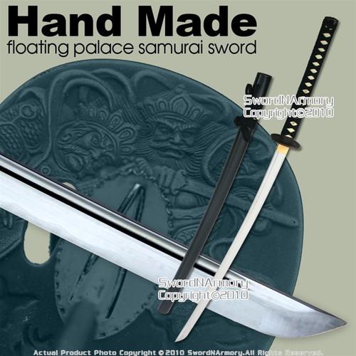 Hand Made Floating Palace Samurai Katana Sword w/ Bag