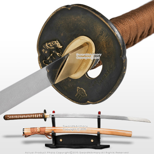 Ryujin Brand Handmade T10 Hira Zukuri Samurai Katana Sword Differential Harden W