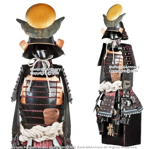 "17"" Japanese Warloard: Armer Armor Shogun Samurai Suit of Armor Miniature Gift"
