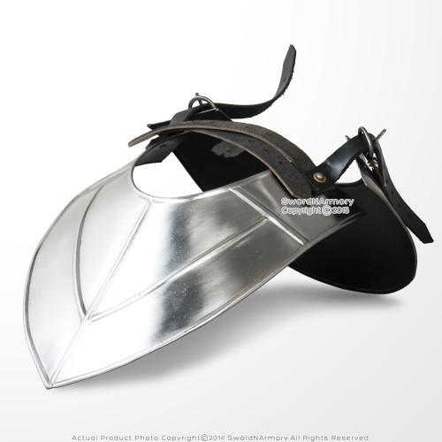 Medieval Gorget Neck Plate Armor 18 Gauge Steel LARP Renaissance Costume