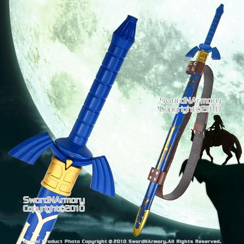 Anime Zelda Link's Twilight Princess Master Sword with Scabbard and Sword Belt