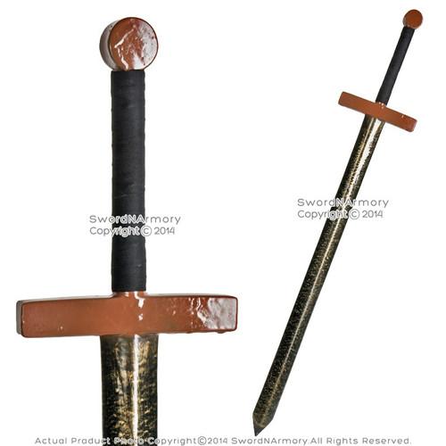 "43"" Fantasy Dark Knight Battle Sword Metalic LARP Foam Latex Weapon Cosplay BR"