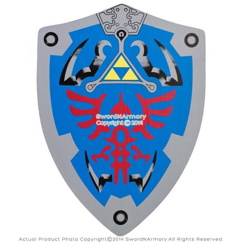 """20"""" x15"""" HERO Blue Link Hylian Triforce Foam Shield Legend of Zelda LARP Cosplay"""