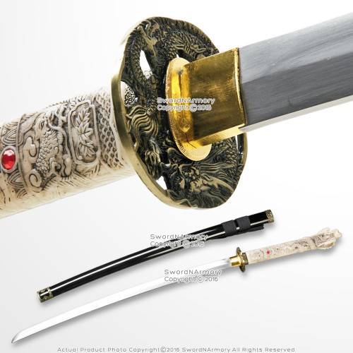 Black Open Mouth Dragon Highland Connor MacLeod Fantasy Katana Sword Replica
