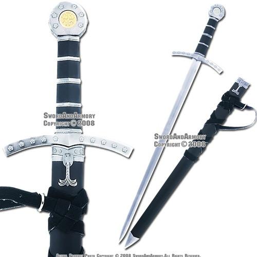 Medieval Crusader Dagger Knights of Templar Sword With Sheath