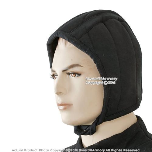 Large Size Medieval Renaissance Cotton Padded Arming Cap Helmet Chainmail Coil