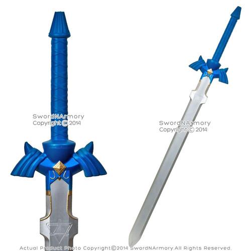 "41"" Blue Zelda Foam Swod Hero Link Hylian Fantasy Katana LARP Cosplay Roleplay"