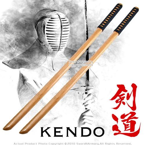 """39 """" Set of 2 Katana Wooden Bokken Practice Sword Kendo 2"""