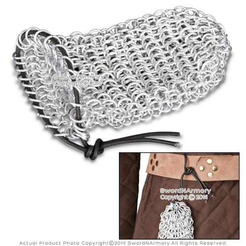 Aluminum Chainmail Coin Dice Bag Medieval Renaissance Costume LARP