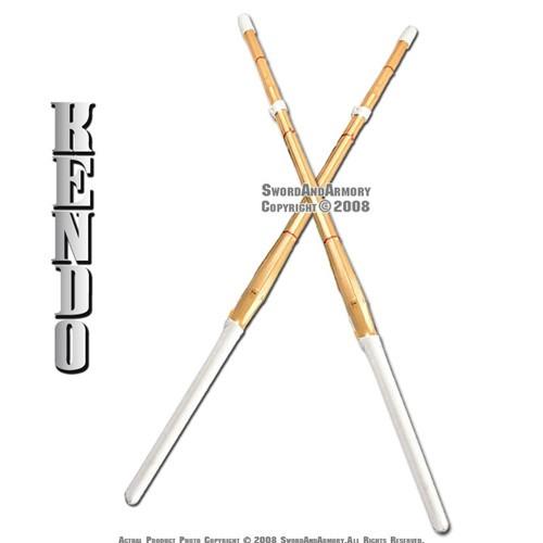 """Set of 2 42"""" Kendo Shinai Bamboo Practice Sword Katana"""